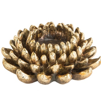 Lotus Ljushållare Guld 12x4 cm