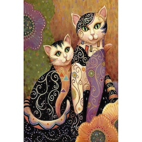 Diamanttavla (R) Cozy Cats 40x60