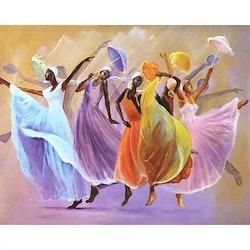 Diamanttavla Happy Dancing 40x50