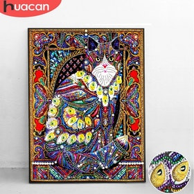 Diamanttavla Special Cat Peacock 40x50