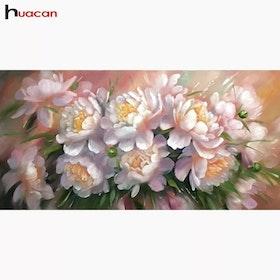 Diamanttavla Precious Pink Flowers 40x80