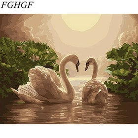 Paint By Numbers Beautiful Swans