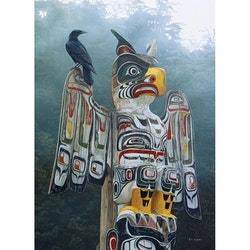 Diamanttavla Eagle Totem 40x50