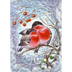 Diamanttavla Winterbird Couple 30x40