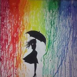 Diamanttavla Color Rain 40x40