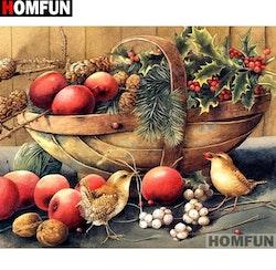 Diamanttavla Birds And Fruits 40x50
