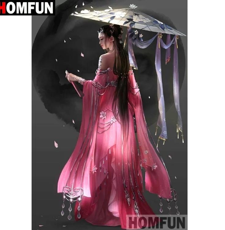 Diamanttavla (R) Geisha Black Moon 50x70