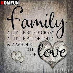 Diamanttavla Family Words 40x40