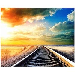 SNART I BUTIK  - Diamanttavla (R) Railway 40x50