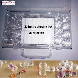 Pärlförvaring Box Med 32 Burkar Med Skruvlock