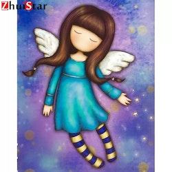 Diamanttavla Cartoon Angel 30x40