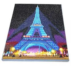 Diamanttavla (R) Med Ledljus Paris 30x40