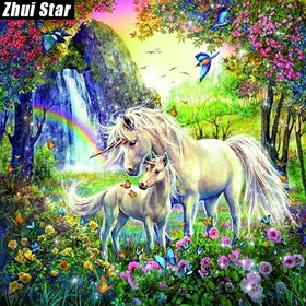 Diamanttavla Fantacy Unicorn 40x40
