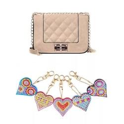 Nyckelringar Hjärta Litet 5-Pack