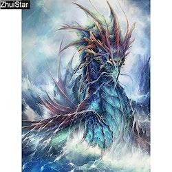 Diamanttavla Ocean Dragon 40x50