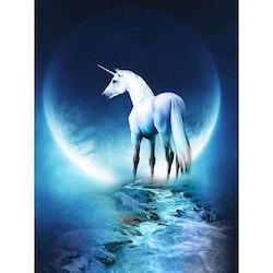 Diamanttavla Unicorn Moon 40x50
