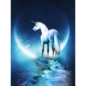 Diamanttavla Unicorn Moon 40x50