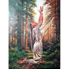 Diamanttavla Praying Indianwoman 40x50