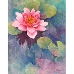 Diamanttavla Painted Lotus 30x40