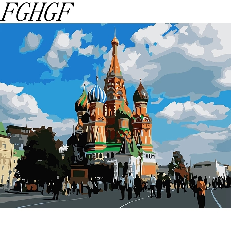 Paint By Numbers Ryska Katedralen