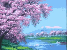 Paint By Numbers Cherrytrees