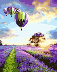 Paint By Numbers Lavendel And Balloons