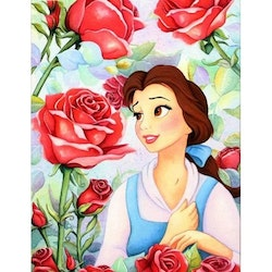 Diamanttavla Princess And Roses 40x50