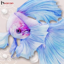 Diamanttavla Beautiful Fish 40x40