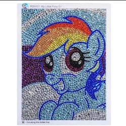 Diamanttavla Med Ram My Litle Pony 15x20