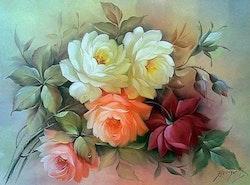Diamanttavla Flower Dream 40x50