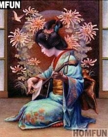 Diamanttavla Japansk Kvinna 40x50