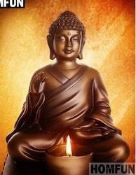 Diamanttavla Buddha Med Ljus 30x40