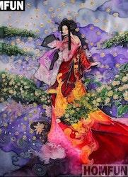 Diamanttavla Geisha Flowerdream 40x50