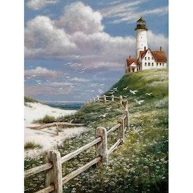 SNART I BUTIK  - Diamanttavla Lighthouse 40x50