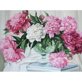 Diamanttavla Bottle Of Peony 40x50