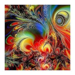 SNART I BUTIK  - Diamanttavla Abstract Peacock 40x40