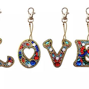 Nyckelring Bokstav LOVE