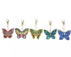 Nyckelring Butterfly 5-PACK