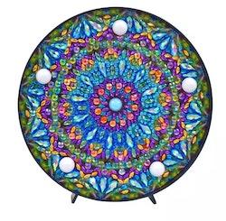 Diamond Painting Ledlampa Mandala Dark 15x15