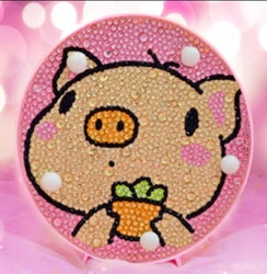 Diamond Painting Ledlampa Piggy 15x15
