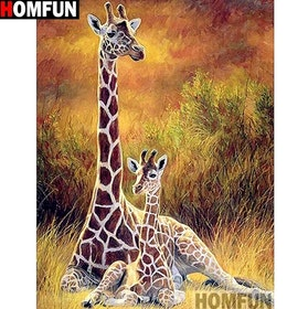 Diamanttavla Giraffer 40x50