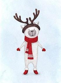 Diamanttavla Christmas Deer 30x40