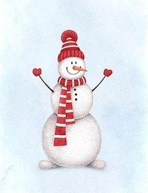Diamanttavla Little Snowman 30x40