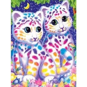 Diamanttavla Färgglada Kattdjur 30x40