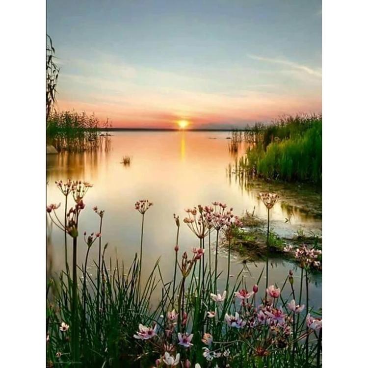 SNART I BUTIK  - Diamanttavla Silent Sunset 40x50