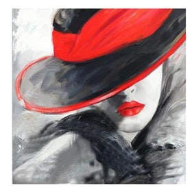 Diamanttavla (R) Red Hat Girl 40x40