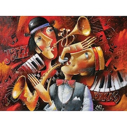 Diamanttavla Crazy Jazz 40x50