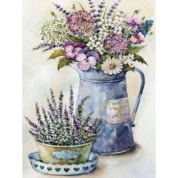 SNART I BUTIK - Diamanttavla Flower Pot 40x50