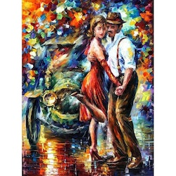 Diamanttavla Dancing Color Couple 40x50