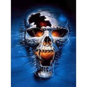 Diamanttavla Skull Bone Head 40x50